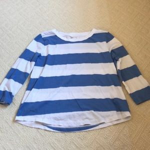 NWOT Blue and White Striped Top